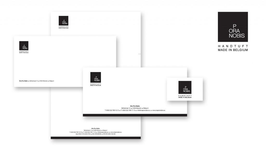 Ora Pro Nobis visitekaartje, briefpapier, factuur, groetenkaart, omslag