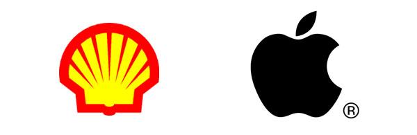 Voorbeelden van symbolische beeld-logo's