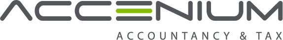 Accenium Accountancy & Tax logo en huisstijl