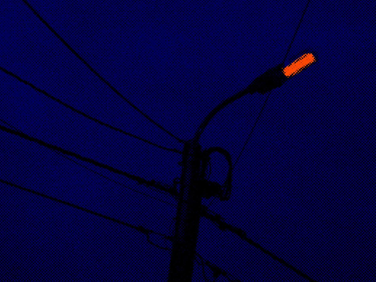 Artwork fotomanipulatie Straatlicht