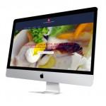 stijlvolle website met foto in achtergrond