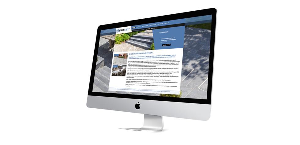 website met grote achtergrondfoto