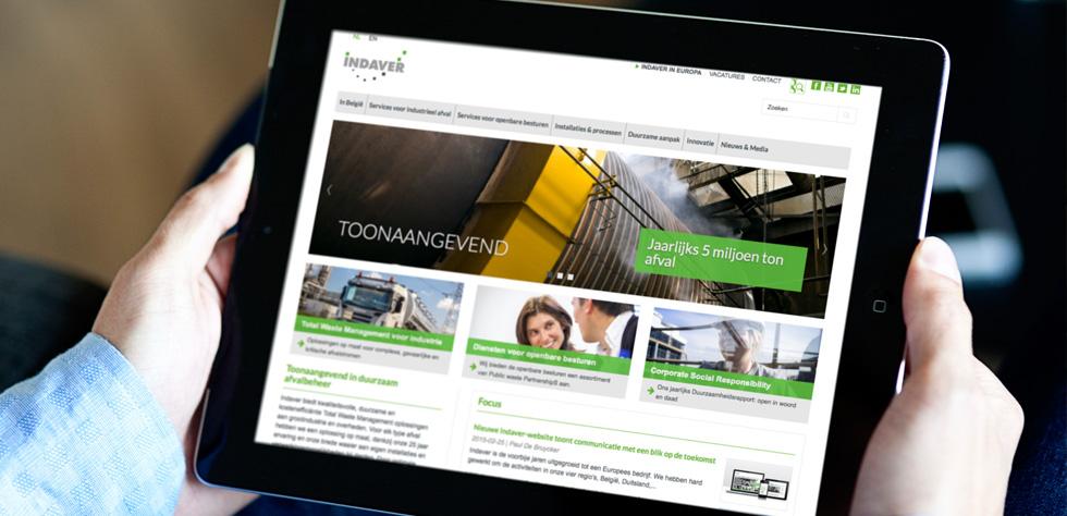 Spitsdesign ontwerpt nieuwe website Indaver