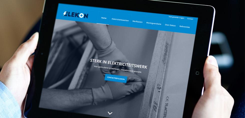mobielvriendelijke website voor elektricien