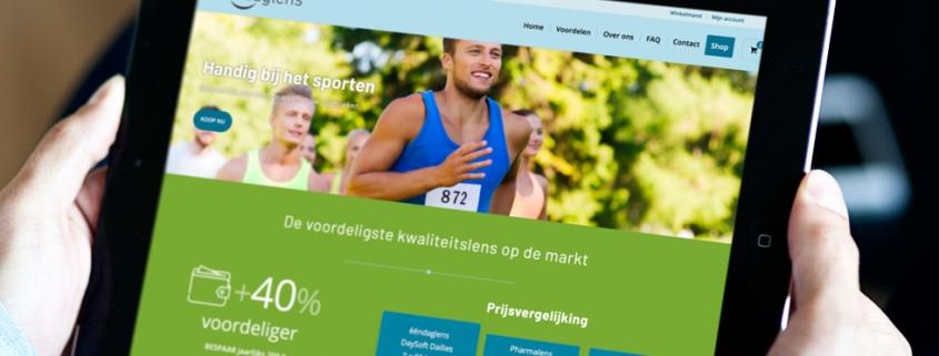website met webshop contactlenzen