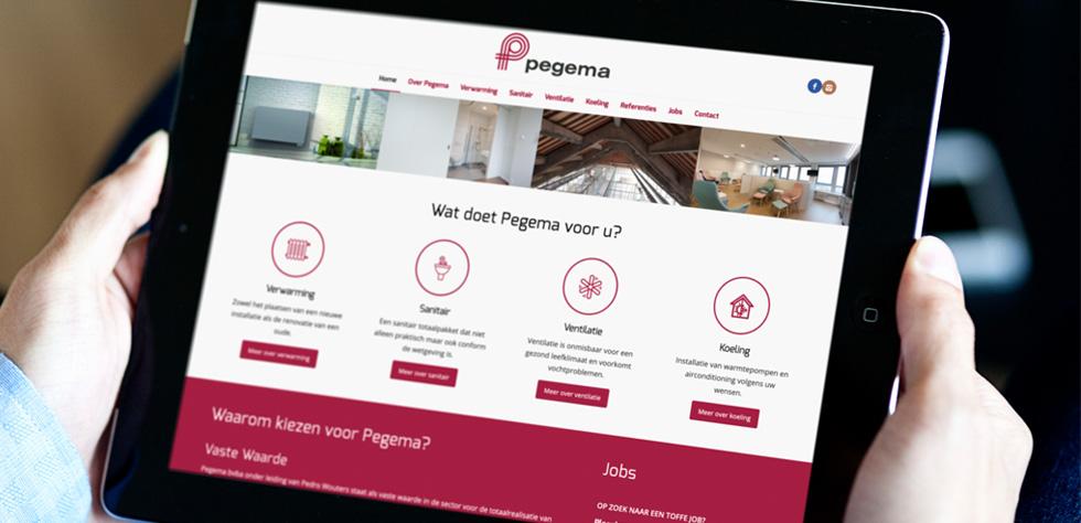 mobielvriendelijke bedrijsfwebsite Pegema