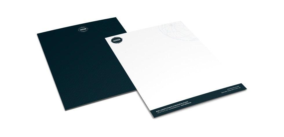 ontwerp mapje en briefpapier